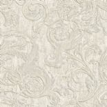 Italian Style Wallpaper Kastra Scroll White 20502 By Sirpi For Muriva